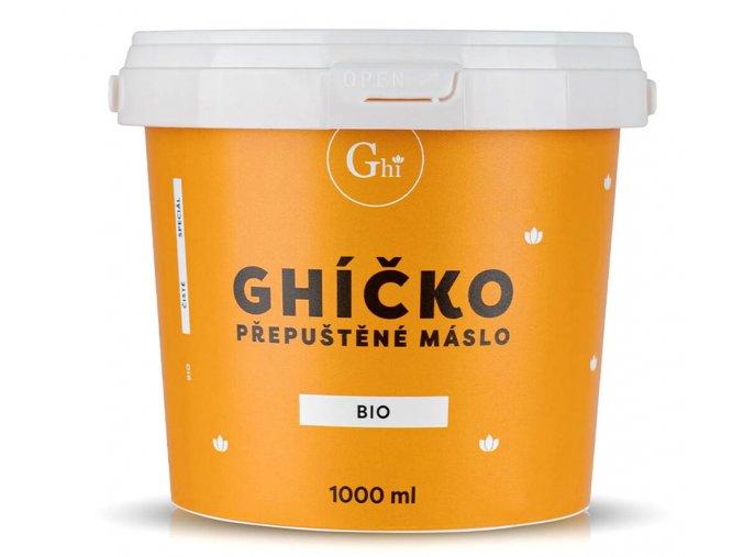 České Ghíčko BIO přepuštěné máslo 1000 ml
