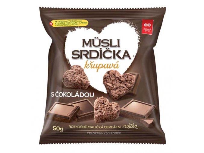 Müsli srdíčka s čokoládou 50 g