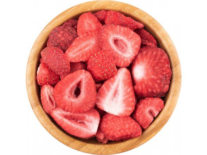 Lyofilizované jahody sušené mrazem