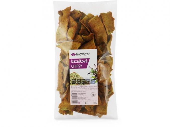 Bazalkové chipsy 150g