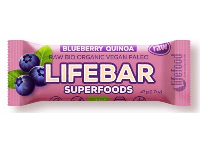 Lifebar Plus tyčinka borůvková s quinoou 47g