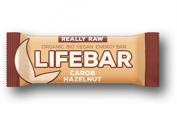Lifebar tyčinka karobová s lískovými oříšky BIO RAW 47g