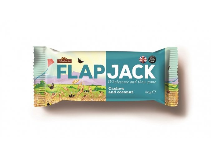 Flapjack Wholebake ovesný kešu kokos 80g