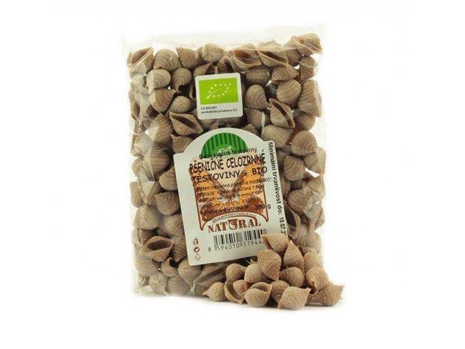 Pšeničné celozrnné těstoviny BIO mušle 300 g