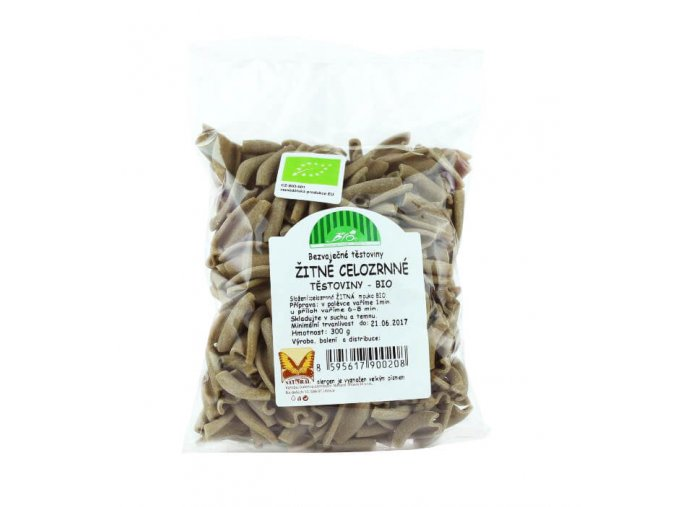 Žitné celozrnné těstoviny BIO vřetena 300 g