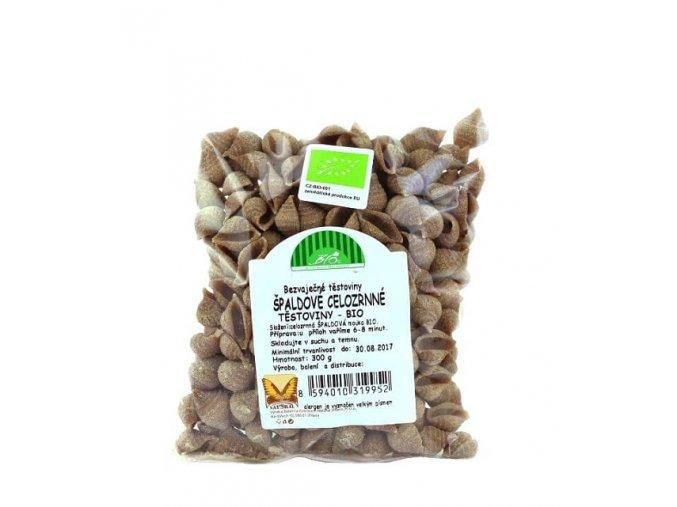 Špaldové celozrnné těstoviny BIO mušle 300 g