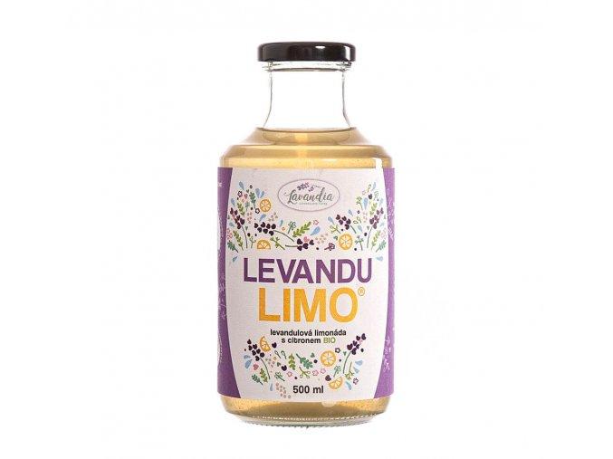 Levandia Bio Levandulová limonáda s citronem 500ml