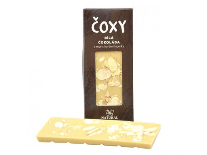 ČOXY bílá čokoláda s mandlovými lupínky a xylitolem 50g
