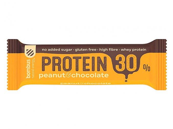 Bombus Protein 30 % Peanut a chocolate 50 g