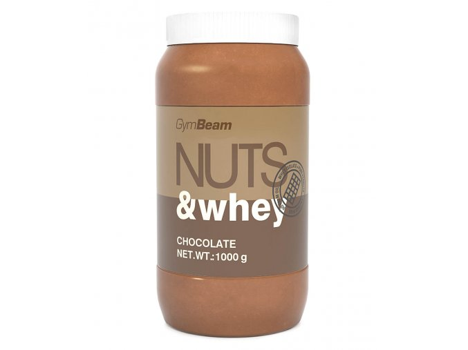 GymBeam Proteinové arašídové máslo Nuts & Whey čokoláda 1000g