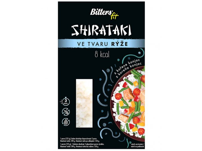 Bitters Shirataki ve tvaru rýže 390g