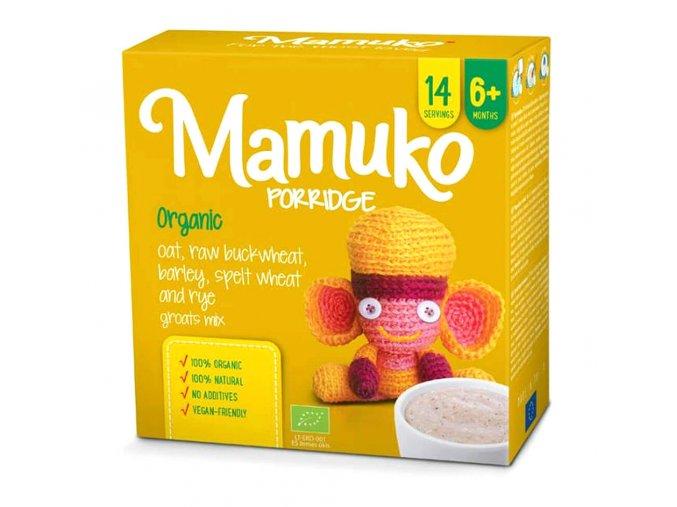 Mamuko bio dětská kaše zelená pohanka, ječmen, špalda, žito, oves 240g
