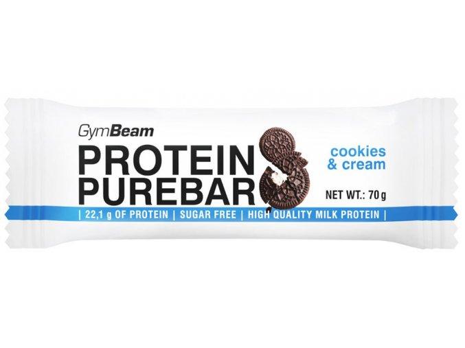 GymBeam Low Carb Protein Pure Bar Cookies a krém 60 g