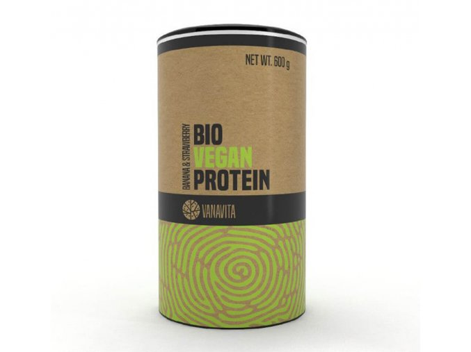 VanaVita Bio Vegan Protein banán jahoda 600 g