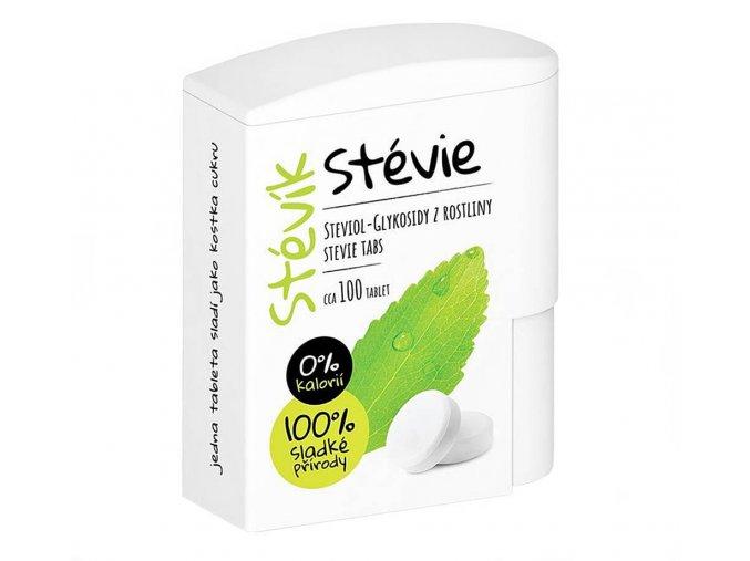 Stévik Stevia tablety 100ks v dávkovači 6 g