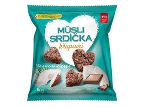 Müsli srdíčka s čokoládou a kokosem 50 g