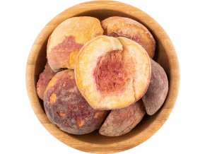 Lyofilizované broskve sušené mrazem