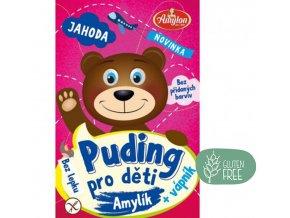 Amylon Puding jahodový pro děti bez lepku 40g