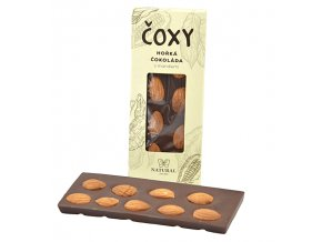 ČOXY hořká čokoláda s mandlemi a xylitolem 50g