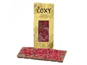 ČOXY mléčná čokoláda s malinami a xylitolem 50g