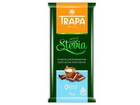 TRAPA Mléčná čokoláda se stévií 75g