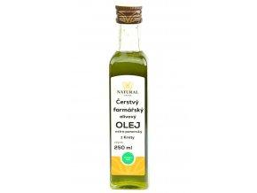 Čerstvý farmářský olivový olej extra panenský z Kréty 250ml