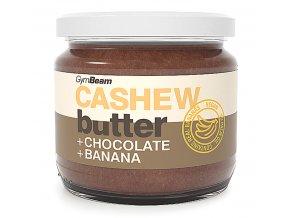 GymBeam Kešu máslo s čokoládou a banánem 340 g