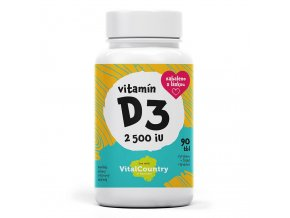 Vital Country Vitamín D3 2500IU 90 tablet