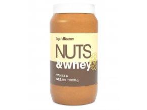 GymBeam Proteinové arašídové máslo Nuts & Whey Vanilka 1000g