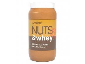 GymBeam Proteinové arašídové máslo Nuts & Whey Slaný karamel 1000g