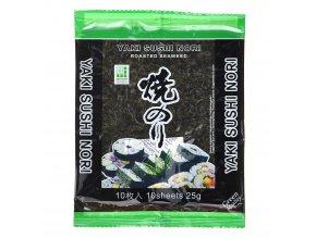 Yaki Sushi Nori Green pražené mořské řasy 25 g