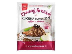 Ovesný hrníček s klíčenou quinoou, jablky a skořicí bez lepku 70g