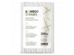 Bambusové brčko balené 200 ks