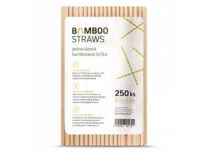 Bambusové brčko nebalené 200 ks