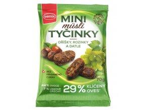 Mini Müsli tyčinky s oříšky bez lepku 70g