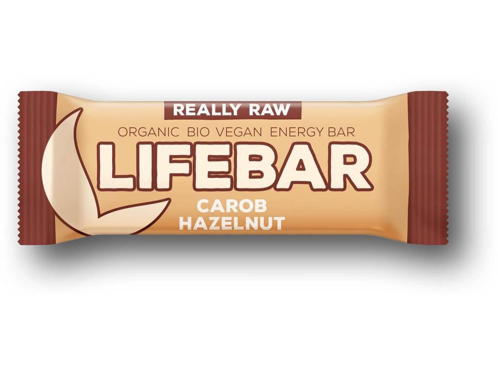 Lifefood Lifebar tyčinka karobová s lískovými oříšky BIO RAW 47g