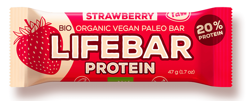 Lifefood Bio Lifebar protein jahodová 47g