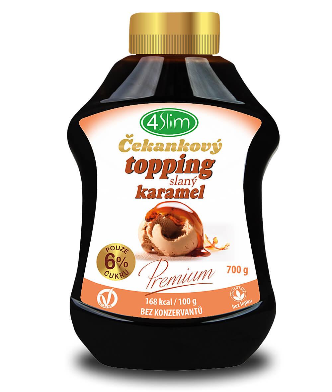 4Slim Čekankový topping slaný karamel 700g