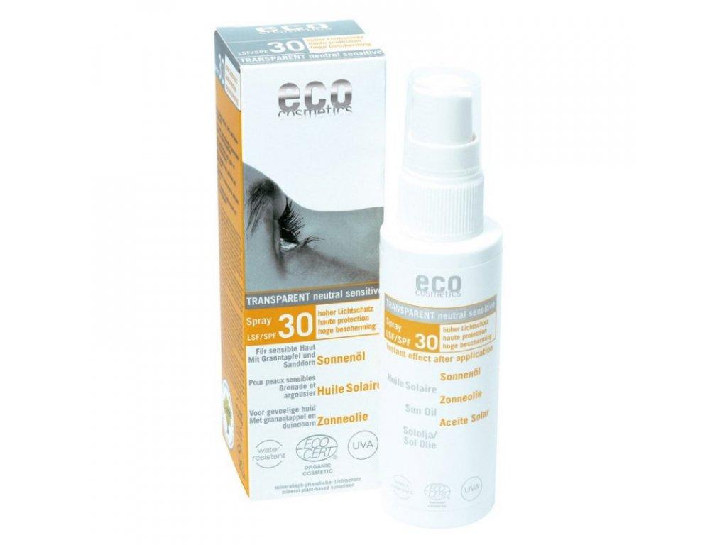 Eco Cosmetics Opalovací olej ve spreji SPF 30 BIO (50 ml) - 100% přírodní, s minerálními pigmenty