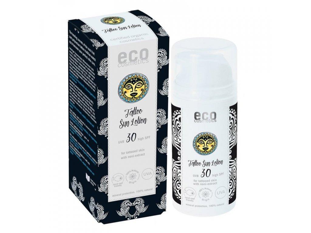 Eco Cosmetics Opalovací krém Tattoo SPF 30 BIO (100 ml) - pro ochranu tetování