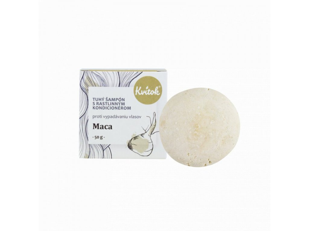 Kvitok Tuhý šampon s kondicionérem Maca XXL (50 g) - stimuluje růst vlasů