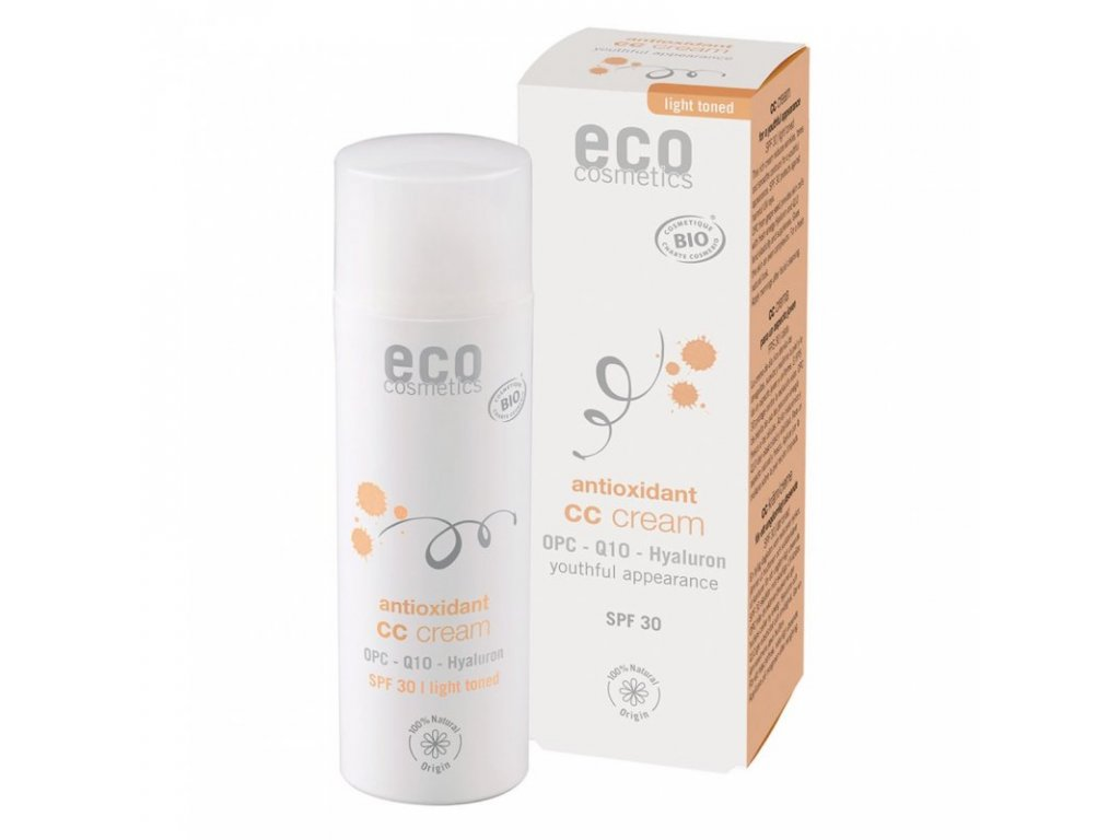 Eco Cosmetics CC krém SPF 30 BIO - light (50 ml) - komplexní péče pro vaši pleť