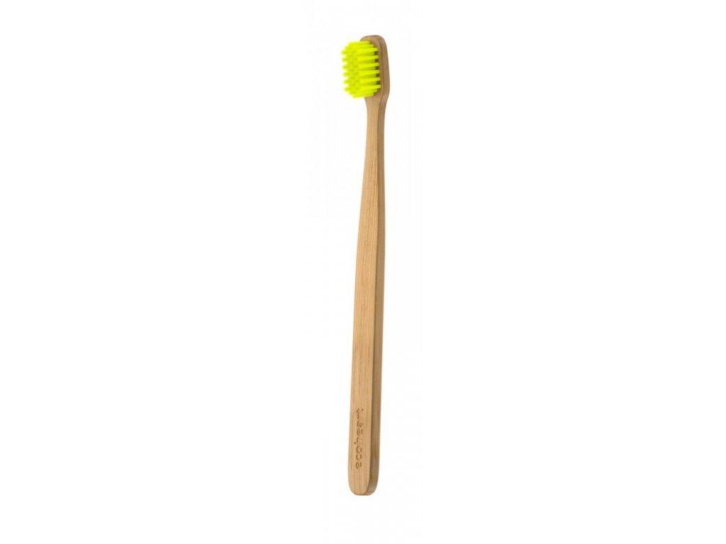 Ecoheart Bambusový kartáček v papírové krabičce (extra soft) - žlutý