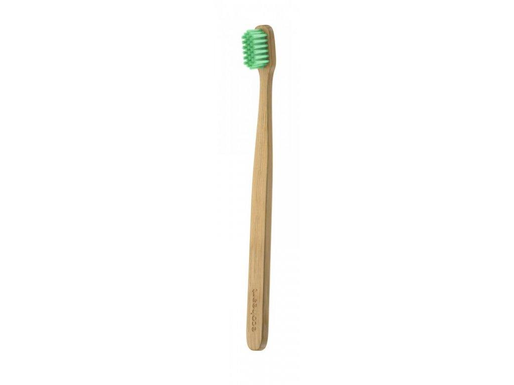 Ecoheart Bambusový kartáček v papírové krabičce (extra soft) - zelený