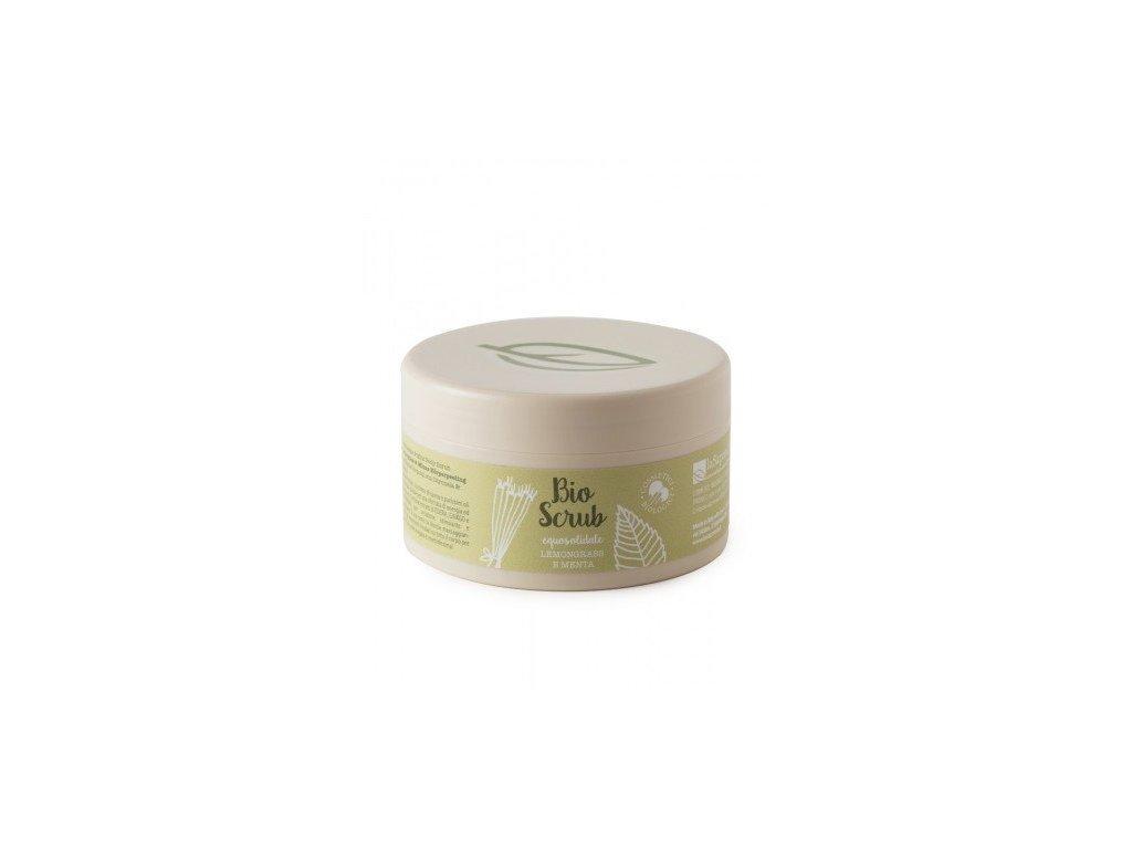 laSaponaria Tělový peeling s citrónovou trávou a mátou BIO (250 g)