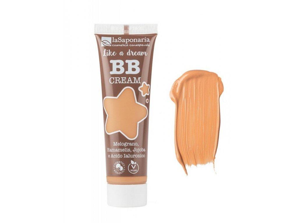 """laSaponaria BB krém """"Jako sen"""" BIO - zlatý (30 ml) - lehké krytí s matným finišem"""