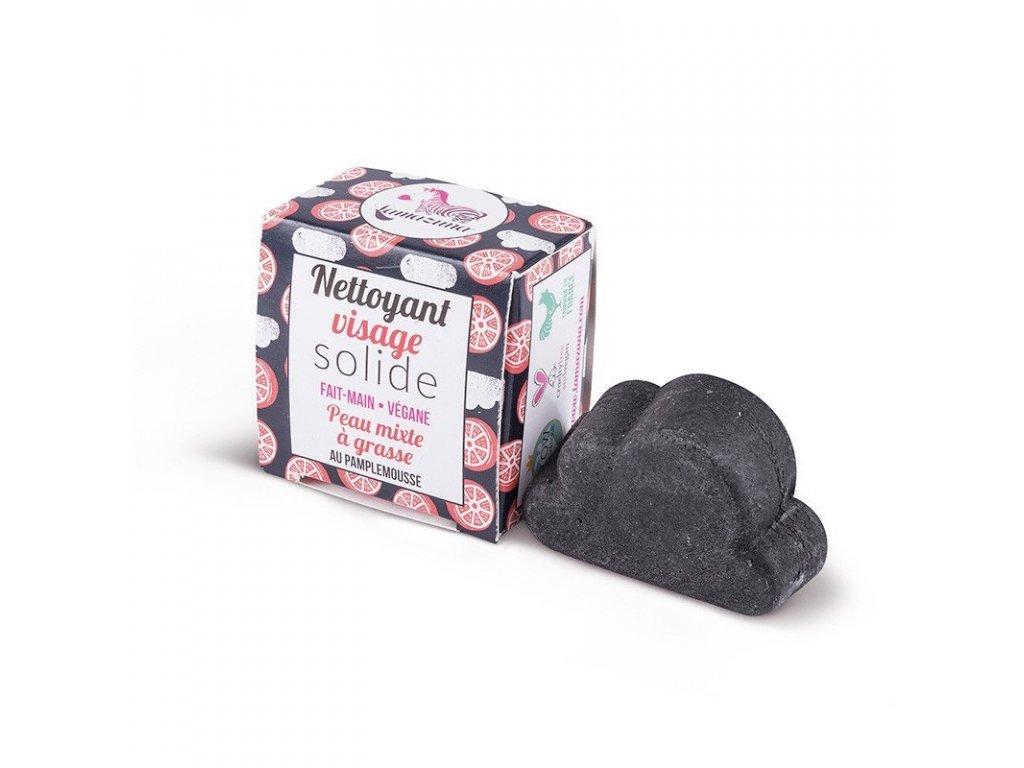 Lamazuna Tuhé mýdlo na čištění obličeje pro mastnou pleť - grapefruit (25 g)