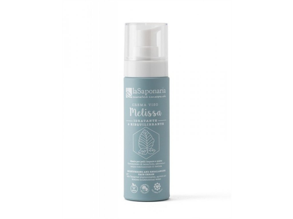 laSaponaria Bioaktivní pleťový krém pro hydrataci s meduňkou BIO (50 ml)
