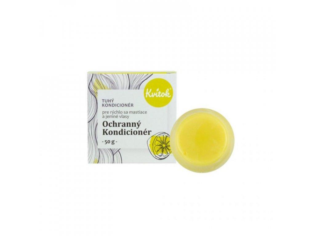 Kvitok Tuhý kondicionér pro mastné vlasy - Ochranný XL (50 g) - posílí jemné hřívy