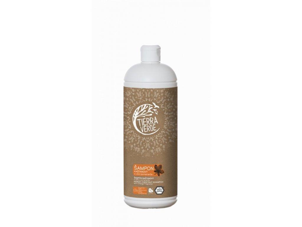 Tierra Verde Kaštanový šampon pro posílení vlasů s pomerančem (1 l)